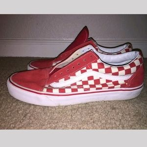 Vans old skool checkered vans shoes with laces